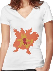Magby, Magmar and Magmortar Women's Fitted V-Neck T-Shirt