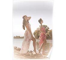Hippie girls Poster