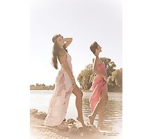 Hippie girls Photographic Print