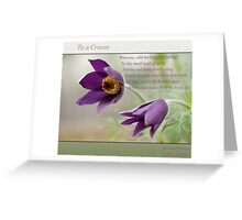 Ode to Spring ~ Crocus Greeting Card