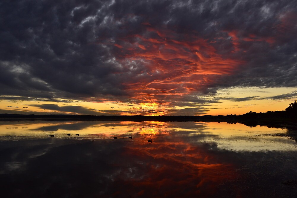 Fiery Sunset by Anthony Keevers