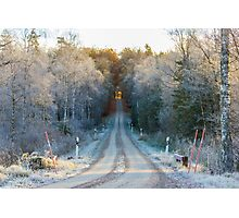The border between Winter and Autumn Photographic Print