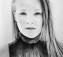 Sally White's Daughter Commissioned Pencil Artwork by deborah zaragoza