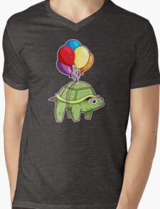 Turtle - Balloon Fun Mens V-Neck T-Shirt