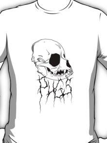 DEATH PUG ON WHITE T-Shirt
