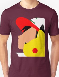 Ash and Pikachu Silhouette T-Shirt
