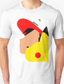 Ash and Pikachu Silhouette T-Shirt