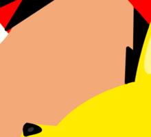 Ash and Pikachu Silhouette Sticker