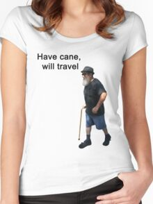Have cane, will travel Women's Fitted Scoop T-Shirt