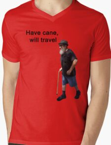 Have cane, will travel Mens V-Neck T-Shirt