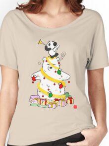 Panda And Polar Bear Christmas Tree Women's Relaxed Fit T-Shirt