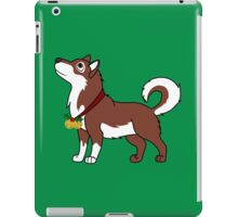 Red Alaskan Malamute with Gold Jingle Bells & Holly iPad Case/Skin