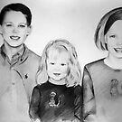 Betty's Grandchildren Pencil Portrait Commission by deborah zaragoza