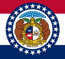 Missouri USA State Flag Bedspread T-Shirt Sticker Sticker