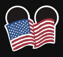 American Flag Ears Baby Tee