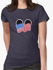 American Flag Ears Womens Fitted T-Shirt