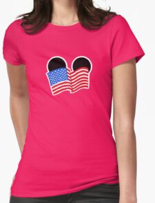 American Flag Ears Womens T-Shirt