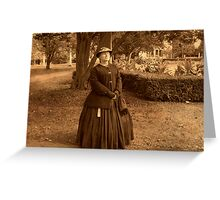 Julia Boggs Dent Grant - Re-enactor Player at Ringwood Manor Greeting Card