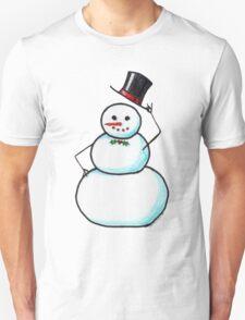 Snow Gentleman Unisex T-Shirt