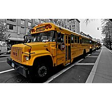 Procession of the School Busses Photographic Print