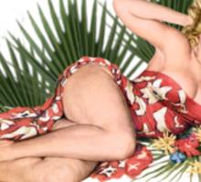 Tropicana Lounge Hula Girl 2 Sticker