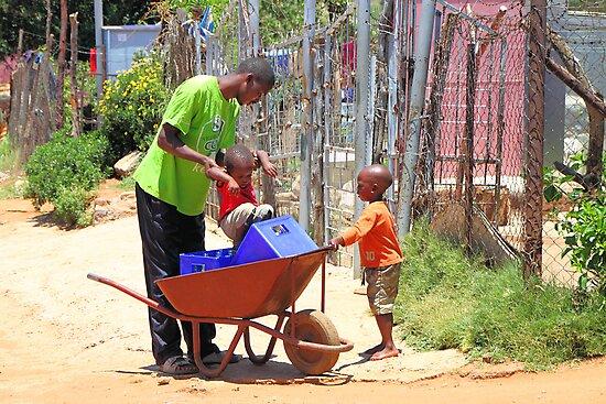Street Scene, Soweto by Carole-Anne