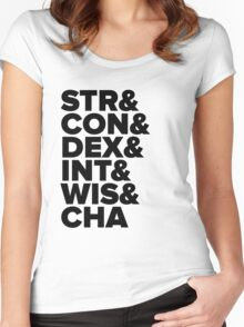 Characteristics Women's Fitted Scoop T-Shirt