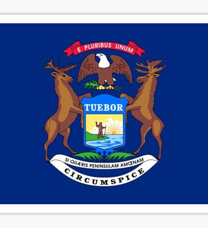 Michigan USA State Flag Bedspread T-Shirt Sticker Sticker
