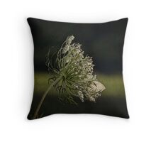 Queen Ann's Lace and Visitor Throw Pillow