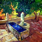Fountain in Zuheros by Jim Phillips
