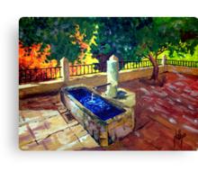Fountain in Zuheros Canvas Print