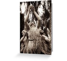 nature nymphs honour the goddess Greeting Card