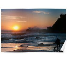 Morning comes to Nobbys Beach Poster