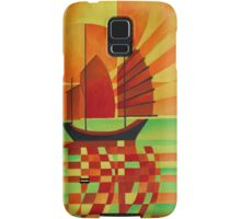 Junk on Sea of Green Cubist Abstract Samsung Galaxy Case/Skin