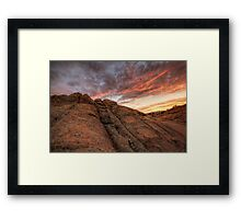 Sunset Dip Framed Print