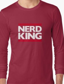 Nerd King King Of Rock Logo Long Sleeve T-Shirt