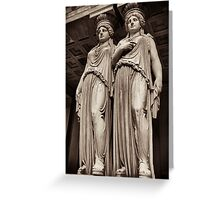 caryatids vienna Greeting Card