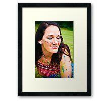 Hippie Tina Framed Print