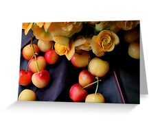 Cherry Gold Greeting Card