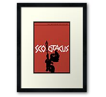 Scootacus - Spartacus Parody Framed Print
