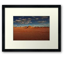 Lake Mungo - Outback NSW - May as well be Mars! Framed Print