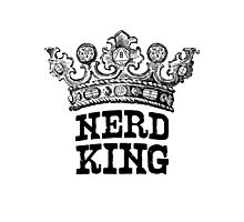 Nerd King Crown Logo (Black Ink) Photographic Print