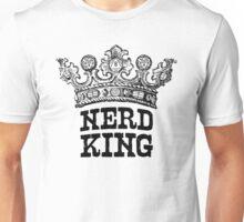Nerd King Crown Logo (Black Ink) Unisex T-Shirt