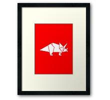 Prehistoric Origami - Triceratops  Framed Print
