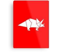 Prehistoric Origami - Triceratops  Metal Print