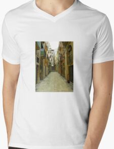 Lost in the alley Mens V-Neck T-Shirt