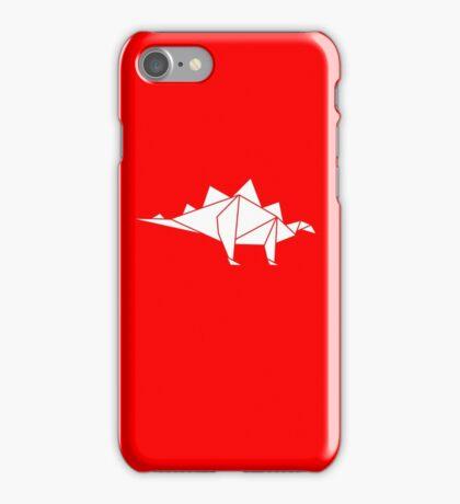 Prehistoric Origami - Stegosaurus iPhone Case/Skin
