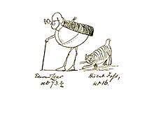 Edward Lear and his Cat Foss Photographic Print