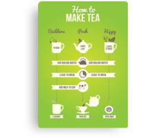 How to make tea Canvas Print