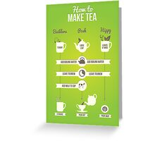How to make tea Greeting Card